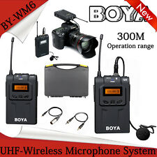 BOYA Lavalier UHF Wireless Microphone System for ENG EFP Canon Sony Nikon BY-WM6