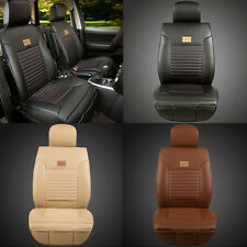 2pcs PU Leather Needlework Car Seat Covers Front Cushion Cover Push for All Car