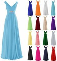 New Chiffon Wedding Bridesmaid Dresses Formal Party Ball Prom Gown Dress 6-22