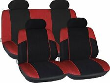 BLACK RED CAR SEAT COVERS FOR AUDI A2 FORD FIESTA KA