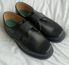MEN'S  BLACK COSYFEET SHOES - SIZE 10 - TOUCH FASTENING  - EXTRA WIDE