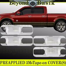 2015 2016 2017 Ford F150 4Dr Crew Cab Chrome Door Handle Bowl Plate Covers