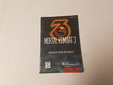 Snes Mortal Kombat 3 Instruction Manual  Booklet Only Nintendo