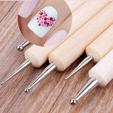 5Pcs/set 2-Way Wooden Nail Art Dotting Dot Pen Marbleizing Manicure Tools DIY