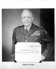 William Kean Autograph Lieutenant General Army World War I World War II Korea #2