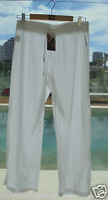 BNWT BILLABONG LADIES BAHAMA RELAXED FIT BEACH PANTS (10) WHITE RRP $65.99