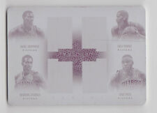 ANDRE DRUMMOND GREG MONROE JENNINGS SMITH 2013-14 Immaculate Quads Plate #D 1/1