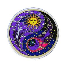 Dan Morris Cosmic Yin-Yang Patch Psychedelic Sun & Moon Cycle Iron-On Applique
