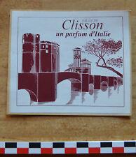 """Sticker autocollant """"Clisson, un parfum d'Italie"""", années 1990, bon état,"""
