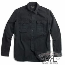RRL Ralph Lauren  Vintage Inspired G.I. MILITARY COTTON WORK SHIRT-MEN- L