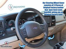 1999 2000 2001 2002 Ford F250 F350 F450 XL -Leather Steering Wheel Cover, Black