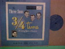 """THE THREE SUNS 3/4 TIME 33 1/3 10"""" RPM WITH LARRY GREEN AT THE PIANO RCA RECORDS"""