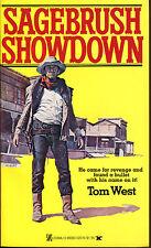 Sagebrush Showdown by Tom West-Vintage Zebra PB 1st Printing-1979
