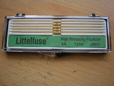 High Reliability Picofuse 5A 125v made by Littlefuse x 5 gold series 265   Z50