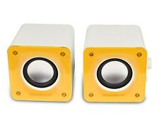 Desktop 2x3W Portable Stereo Speaker Yellow PC Computer Laptop USB Mini iPhone