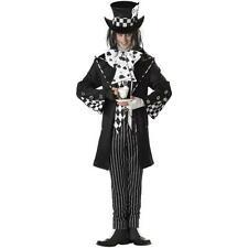 Mens DARK MAD HATTER Costume + Top Hat Gloves Platinum Collection Adult XL 44 46