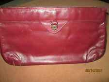 Very Nice Etienne Aigner Leather Burgundy Clutch