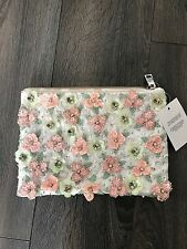 New ASOS Floral Embellished Meadow Clutch Bag Purse NWT Sold Out! Free Shipping!