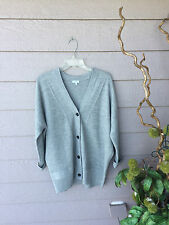 $325 NEW Vince GREY Double Face Mesh Cardigan Size XS