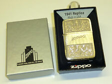 ZIPPO LIGHTER WITH NICE FLOWER ENGRAVINGS- NEVER STRUCK - OVP - 2012 - BLACK ICE