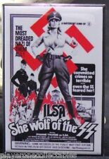 "Ilsa She Wolf of the SS Movie Poster 2"" X 3"" Fridge / Locker Magnet. B Movie"