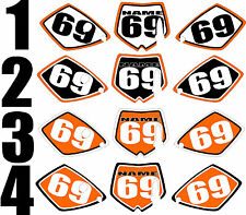 2002-2008 KTM SX65 SX 65 Number Plates Side Panels Graphics Decal