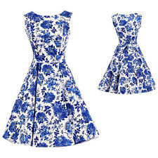Women Vintage Style Hepburn Retro 50s 60s Cocktail Party Swing Rockabilly Dress