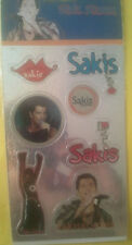 SAKIS ROUVAS / SET OF 7 STICKERS / BRAND NEW / 100% OFFICIAL
