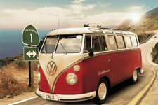 VW CALIFORNIA CAMPER - ROUTE ONE  POSTER - 24x36 BEACH VOLKSWAGEN VINTAGE 33441