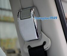 Chrome B pillar Seat safty belt adjust cover trim frame For jeep Patriot 07-2016
