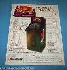 TOUCH MASTER By MIDWAY 1998 ORIGINAL NOS VIDEO ARCADE GAME SALES FLYER BROCHURE