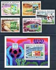 Briefmarken Obervolta 1979 Fußball WM Argentinien ** 740 - 744 + Block 52 BR448