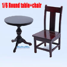 "Toy Model Scene Wooden Chair+ Round Table TYPE B 1/6 Fit for 12"" action figure"