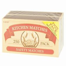 2x kitchen Safety Wooden Matches 250  per Box Candle BBQ  lighter length of 5cm