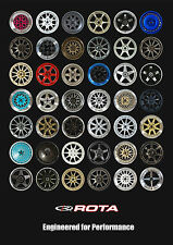 Official Rota A1 Size Poster Rota Wheels Car Gift Present Dad Boyfriend Brother