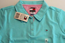 Tommy HILFIGER Polo, Azuur blauw maat 140  ( US - M )