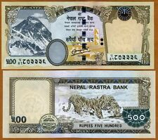 Nepal, 500 Rupees, 2012, Pick 68-New, UNC   Tigers, Everest, Rastra Bank
