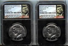 2014-P And D High Relief Kennedy Clad 50c set - Ngc Sp67 - Gem