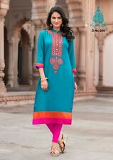 Stylish Heavy Rayon Cotton Embroidered Kurti, Kurta/Tunic in XL Size