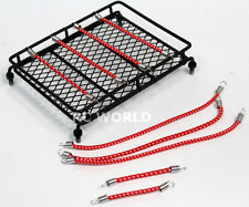 RC Scale Accessories All METAL ROOF RACK LED Lights W/ BUNGEE CORD SET (7 pcs)