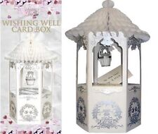 WISHING WELL Post Box Wedding Card White Dove Design Receiving Table Decorations