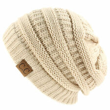 Men Women Beanie Chucky Stretch Cable Knit Slouch  Beanie Ski Winter Hat Unisex