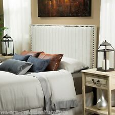 Bedroom Furniture Beige Fabric Queen to Full Size Bed Headboard