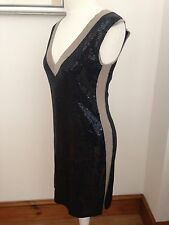 Escada Sport Stunning Sequinned Quirky Dress Size S Fits 8/10