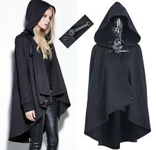 Manteau veste cape gothique punk lolita fashion capuche sangle cuir Punkrave