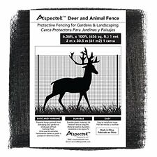 Extra-Strength Deer & Animal Fence Netting 7 x 100 Feet, Protective Fencing for