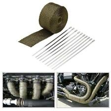 5m Car Motorcycle Turbo Pipe Exhaust Heat Wrap Heat Insulated Wrap 10 Ties L9S9