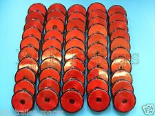 FREE P+P* 50 x Red Rear Screw on 60mm Round Reflectors - Trailers & Horse Box