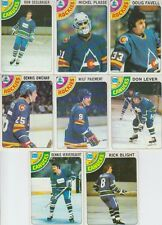 1978-79 Topps Hockey Rockies 8 Card Lot Michel Plasse VG-EX Cond. #7,19,36,52,54