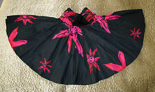WOMEN/ GIRL'S SUN CUT BLACK AND FICHSIA PINK HIGH  WAIST SKIRT BY PARAMITA